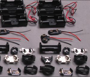 Bateriju laikikliai ir jungtys / battery connectors